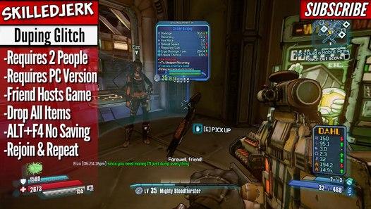 DUPING GLITCH Unlimited Legendary Weapons & Money- Borderlands Pre-Sequel