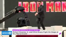Robert Downey Jr. And Chris Evans Fight On Stage At Big Marvel Event