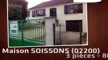 A vendre - maison - SOISSONS (02200) - 3 pièces - 80m²