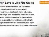 Is It Poetry - When Love Is Like Fire On Ice