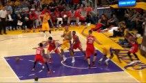 Julius Randle breaks his leg in first NBA game of his career.. - Rockets vs Lakers - 10.28.2014