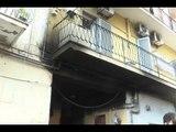 Napoli - Appartamento in fiamme, paura in via Campegna -1- (28.10.14)