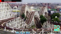 Roller coaster-induced whiplash paralyzes man on the Grand National roller coaster in Blackpool.