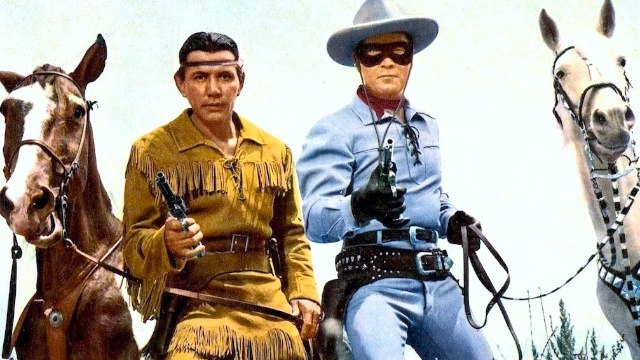 The Lone Ranger (1956) Clayton Moore, Jay Silverheels, Lyle Bettger.  Western