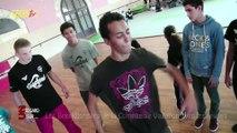 La Paillade : les breakdancers de la Compagnie Vagabond avec les jeunes.