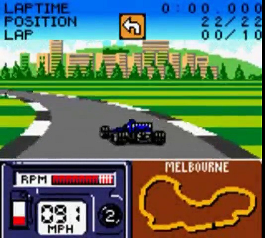 Formula One 2000 – Gameplay – gbc
