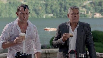 Jean Dujardin et George Clooney Nespresso
