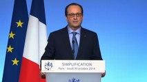 Discours du président de la République lors du bilan d'étape de 18 mois de Simplification
