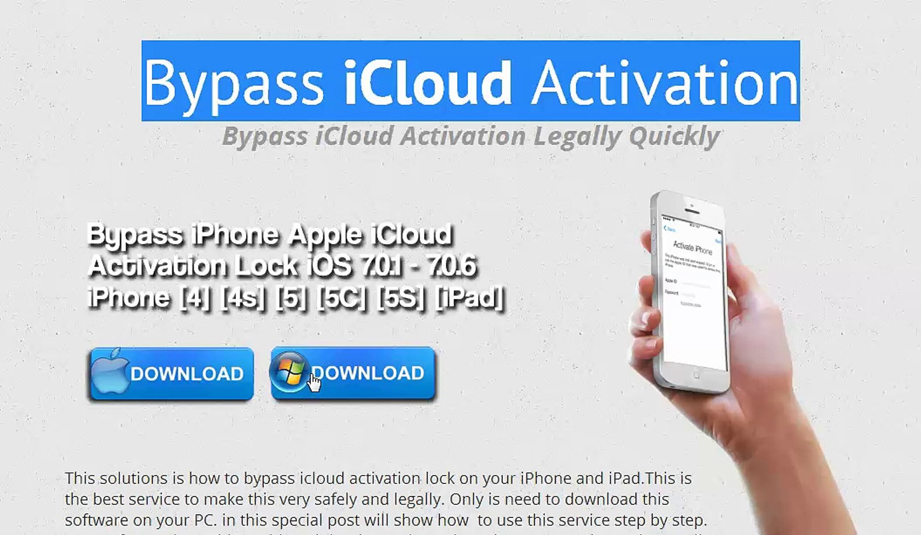 Bypass iCloud Activation Factory Unlock for iPhone and iPad iOS 9
