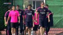 El Barcelona ya se entrena pensando en el partido ante el Celta