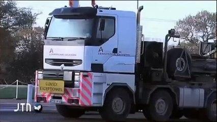 ACRO - Convoi de déchets vitrifiés vers l'Allemagne - Normandie TV 23/11/2011