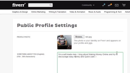 How to Professionally Set Up Your Fiverr Profile - Tutorial