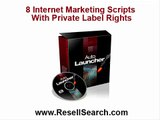 8 Internet Marketing Scripts With Private Label Rights