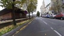 Traversée de Saint-Denis en vélo de la Plaine-Saint-Denis à l'amicale des Bretons de Saint-Denis