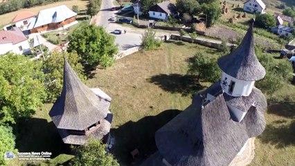"""Biserica """"Înălțarea Sfintei Cruci"""" din Pătrăuți (filmare aeriană)"""