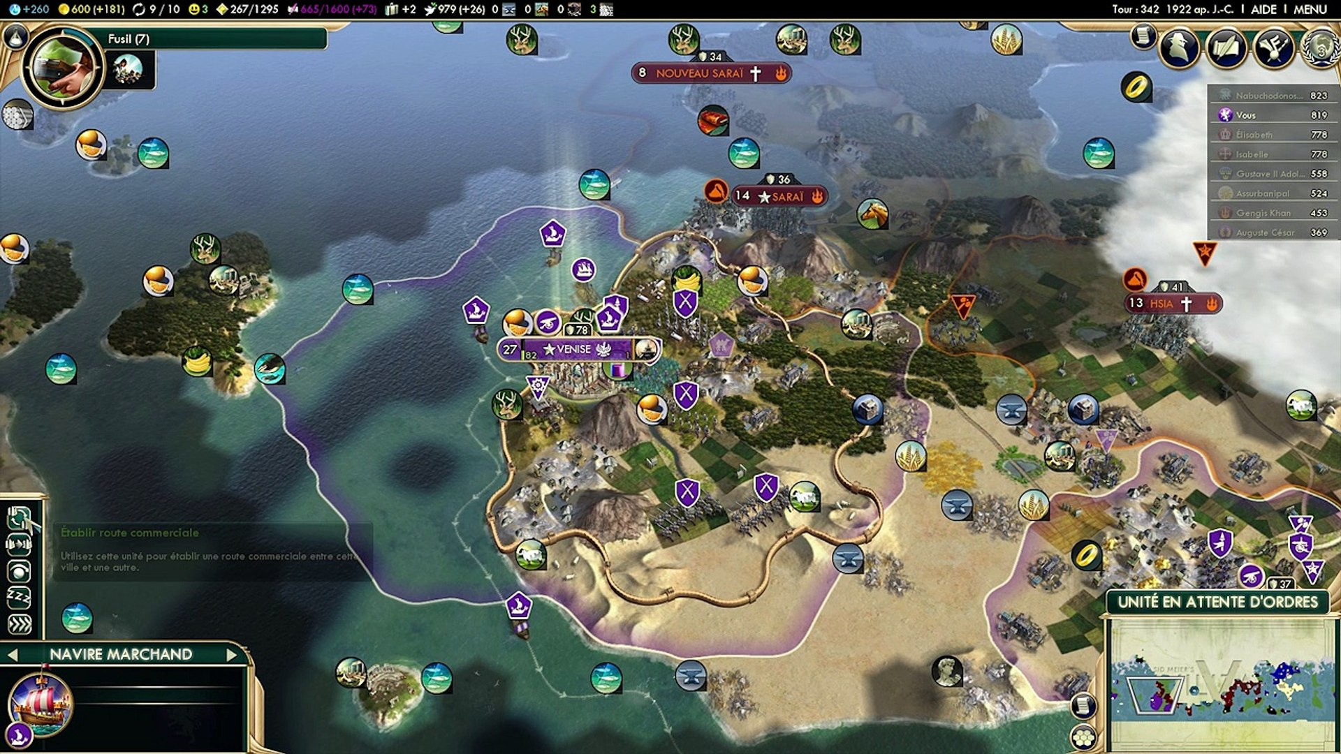 [Civilization V Fr] - Brave New World - Venise - Ep10