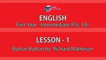 Button Button by Richard Matheson Lessons & Notes