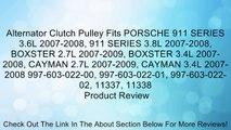 Alternator Clutch Pulley Fits PORSCHE 911 SERIES 3.6L 2007-2008, 911 SERIES 3.8L 2007-2008, BOXSTER 2.7L 2007-2009, BOXSTER 3.4L 2007-2008, CAYMAN 2.7L 2007-2009, CAYMAN 3.4L 2007-2008 997-603-022-00, 997-603-022-01, 997-603-022-02, 11337, 11338 Review