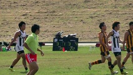 2014/11/03 MAGPIES vs HAWKS Q2 駒澤マグパイズ対イースタン・ホークス - AFL Japan Top League