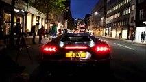 Une Lamborghini Aventador prend feu dans le centre de Londres.