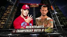John Cena vs CM Punk, WWE Monday Night RAW 22.08.2011