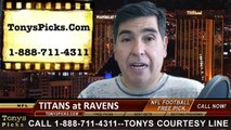 Baltimore Ravens vs Tennessee Titans Free Pick Prediction NFL Pro Football Odds Preview 11-9-2014