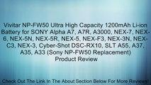 Bateria para Sony Alpha slt-a35y slt-a37 slt-a55 slt-a55v