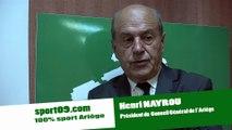 1ére interview officielle SPORT de Henri NAYROU - nouveau président du Conseil Général de l'Ariége