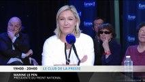"""Le Pen : """"Sarkozy commence une carrière d'humoriste !"""""""
