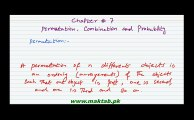 FSc Math Book1, Ch 7, LEC 4 Permutation