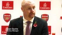 Sean Dyche reaction Arsenal vs Burnley