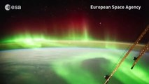 Stunning footage from space of aurora over New Zealand