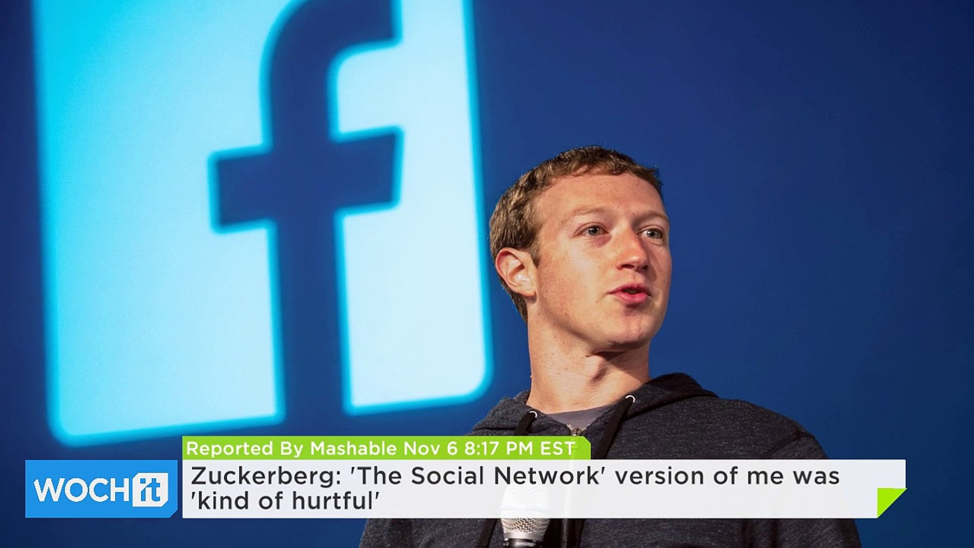 Zuckerberg The Social Network Version Of Me Was Kind Of Hurtful