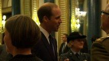 The Queen, Harry and William host reception for injured veterans