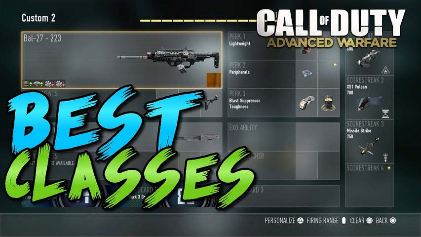 Call of Duty Advanced Warfare - BEST CLASS SETUPS! - By TheRegiioMonkey (COD AW BEST CLASSES)