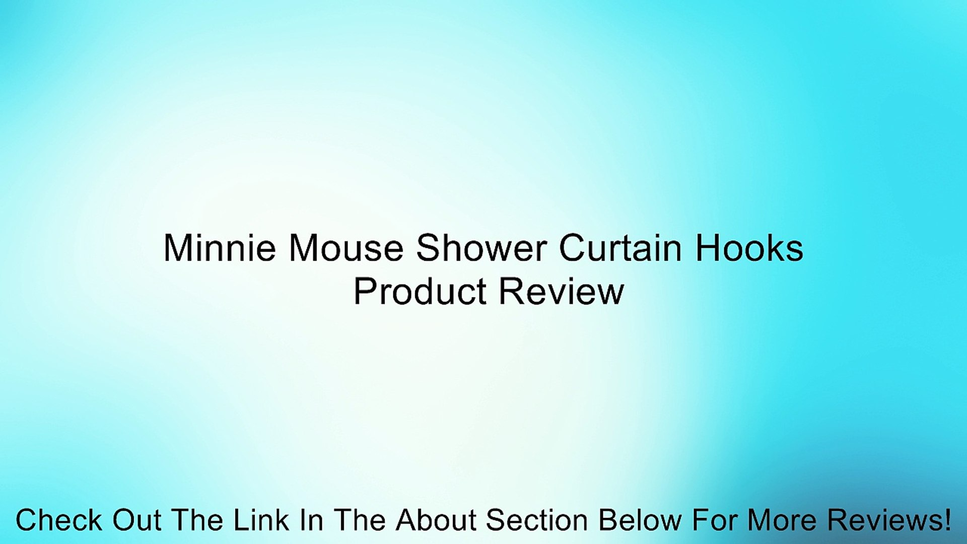Minnie Mouse Shower Curtain Hooks Review