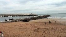 PAISAJE: Ambiente en playa Palmera Candás, Asturias. 8 Nov