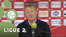 Conférence de presse Stade Brestois 29 - Havre AC (1-0) : Alex  DUPONT (SB29) - Erick MOMBAERTS (HAC) - 2014/2015