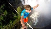 Extreme tightrope balancing