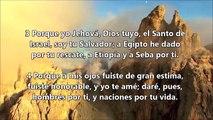 ISAIAS  43-1-7 - Profeta Miguel de Sevilla
