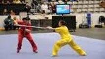 2 championnes d'arts martiaux font une Démonstration de wushu!