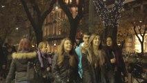 'Boo' prank on unsuspecting pedestrians