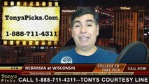 Wisconsin Badgers vs. Nebraska Cornhuskers Free Pick Prediction NCAA College Football Odds Preview 11-15-2014