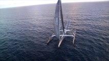 Les premières images de Spindrift 2 en approche de la ligne ! Carribean Skyview / Sea Events
