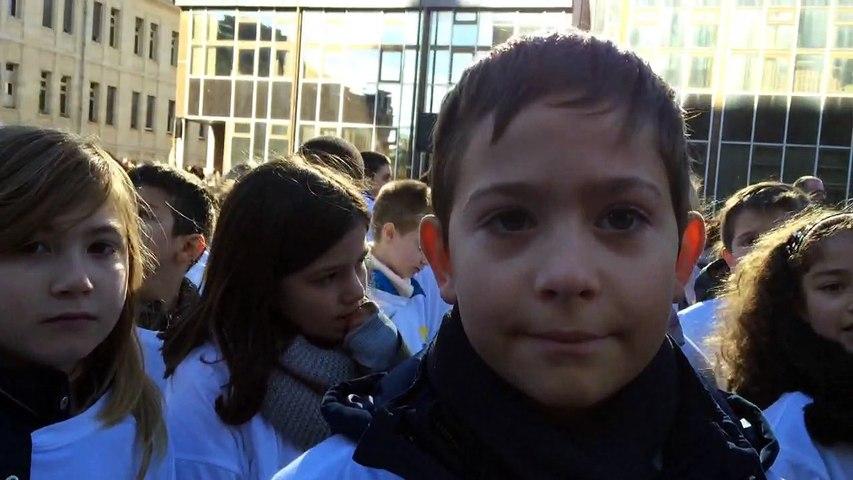 11-Novembre. Louis, 10 ans en CM2 a chanté la Marseillaise