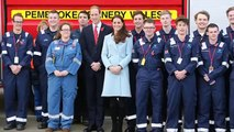 Kate Middleton shows off healthy glow and her bump during refinery tour with Prince William