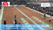 Finale tir de précision, Bulgarie, Chine, Italie, Croatie Championnat du Monde Féminin de Sport Boules, Mâcon 2014