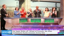 Pat Sajak Walks Off 'Wheel of Fortune' Set After Contestants Dumb Answers Annoy Him