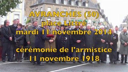cérémonie du 11 novembre 1918 - 2014 à Avranches - place Littré