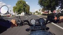 Chute en moto après multiples infractions